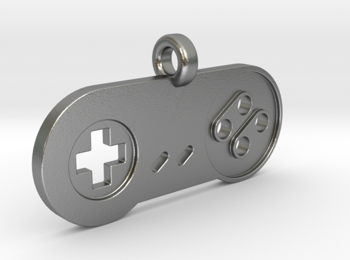 SNES Controller Styled Pendant 3d printed