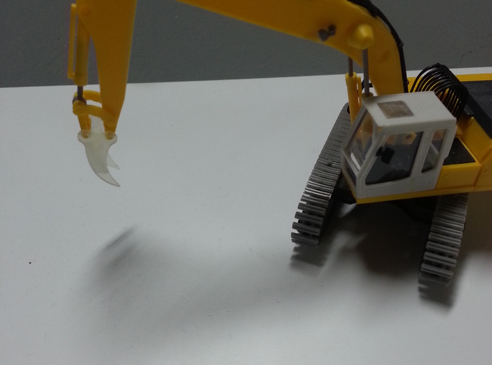 HO 1:87 excavator root Rhino attachment 3d printed