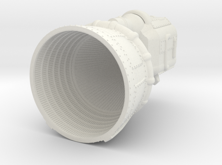 F-1 Engine Batted 1:48 3d printed