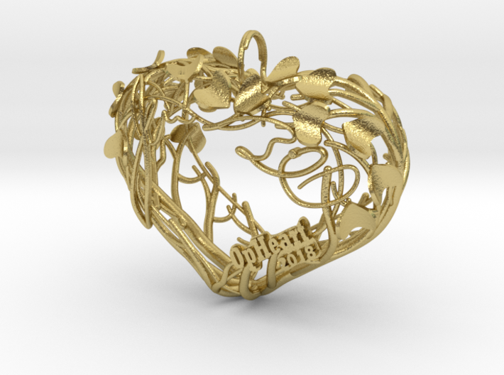 Heart Branches - Ornament 3d printed