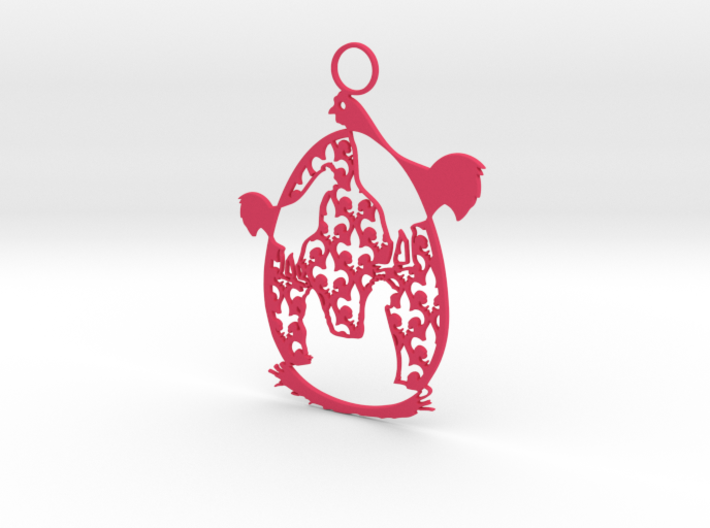 12 Days of Christmas Ornament 3 French Hens 3d printed