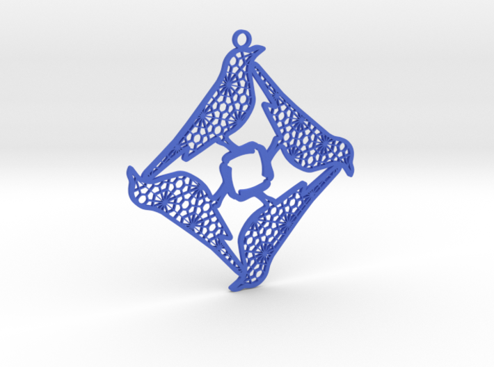 12 Days of Christmas Ornament 4 Calling Birds 3d printed