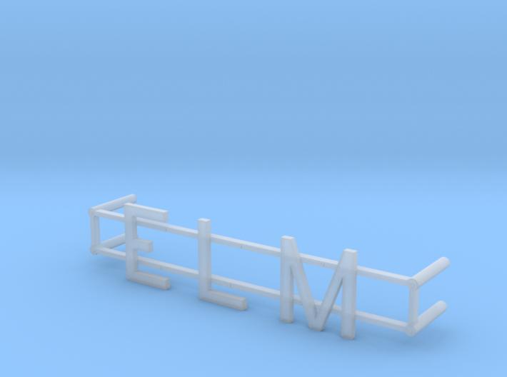 ELM Street Name 3d printed