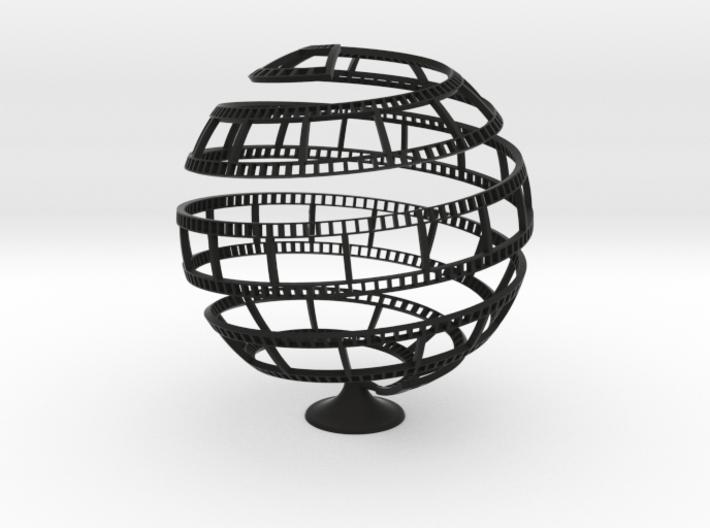 FILM TAPE GLOBE 3d printed