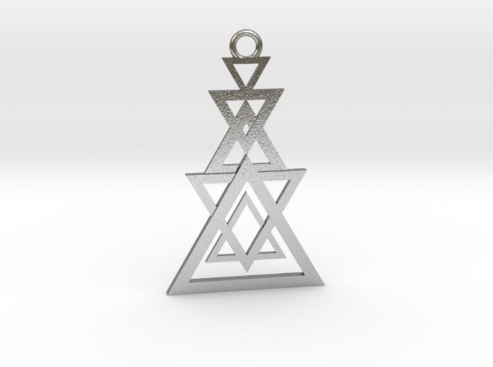 Geometrical pendant no.11 3d printed