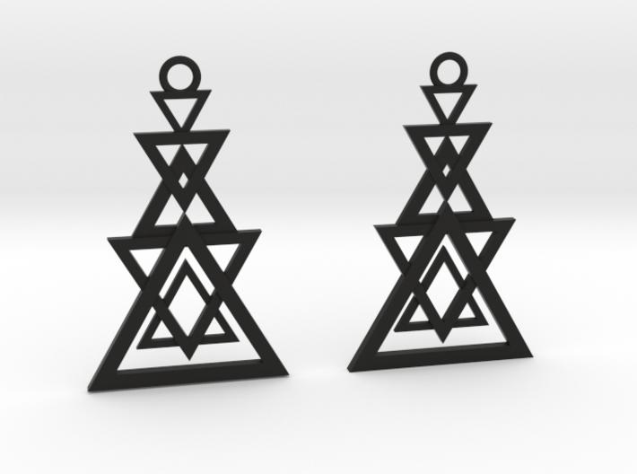 Geometrical earrings no.11 3d printed