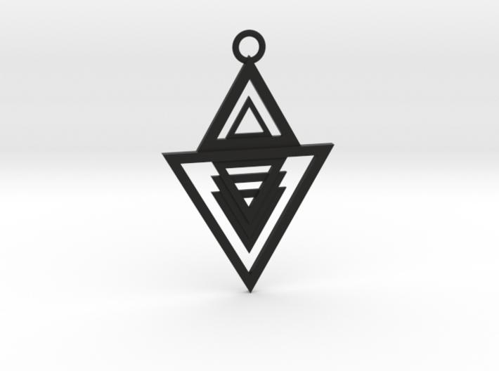 Geometrical pendant no.13 3d printed