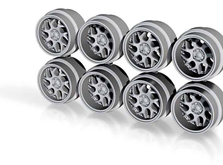 DS-01 Hot Wheels Rims 7.6mm 3d printed