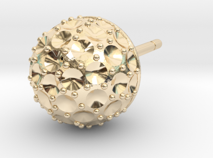 Ball Weighted Earring (part 1) 3d printed