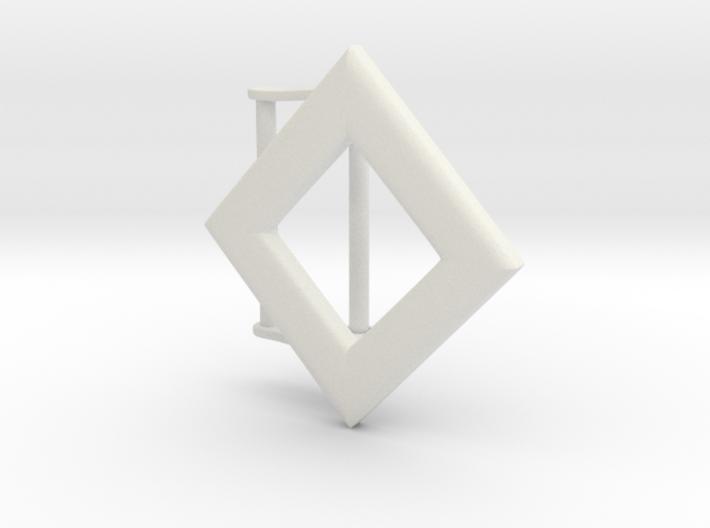 Diamond Belt Buckle 3d printed