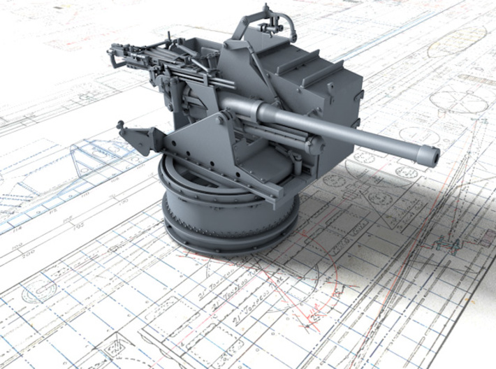 1/48 6-pdr (57mm)/7cwt QF MKIIA Aft (MTB) 3d printed 1/48 6-pdr (57mm)/7cwt QF MKIIA Aft (MTB)