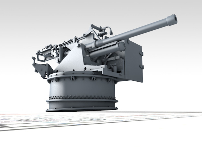1/128 6-pdr (57mm)/7cwt QF MKIIA Fore (MTB) 3d printed 3D render showing product detail