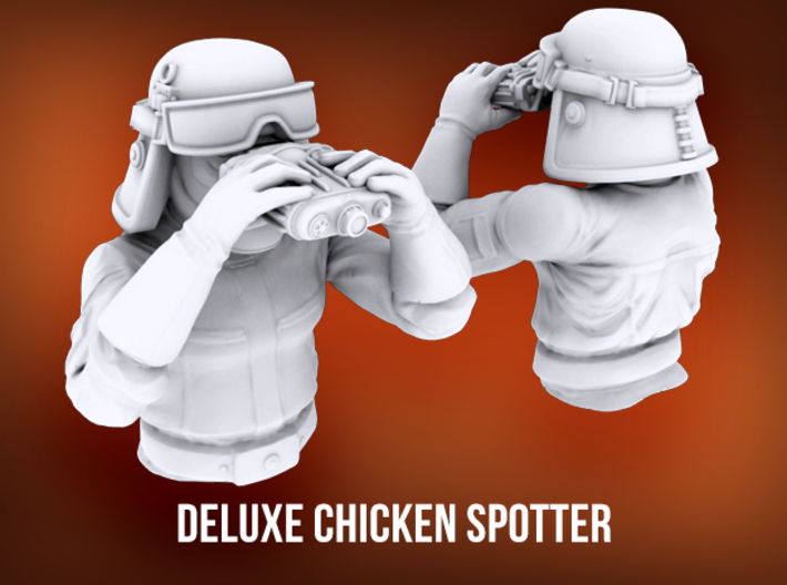Deluxe Chicken Spotter 3d printed