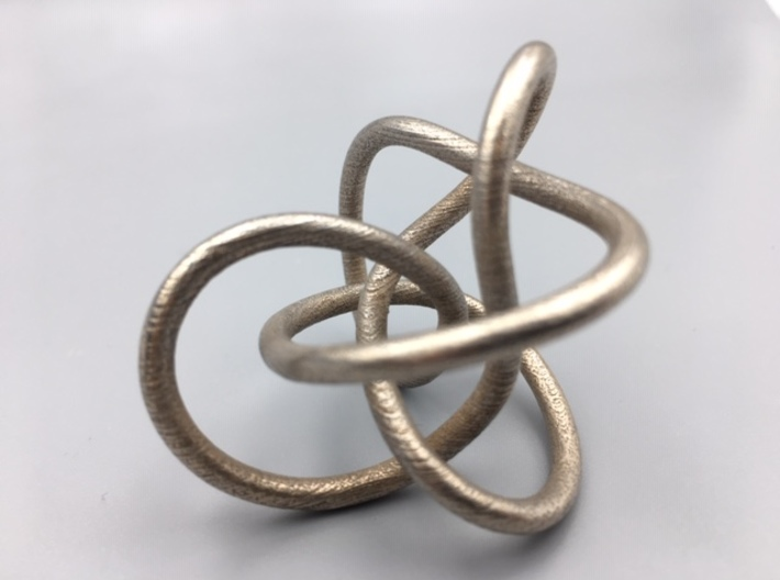 Steel Midway Perko Knot 3d printed 3D print of model in Polished Bronzed-Silver Steel