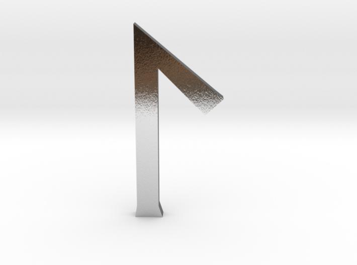 Laguz rune small 3d printed