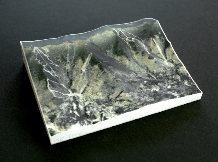 Sugarbush Resort, Vermont, USA, 1:50000 3d printed
