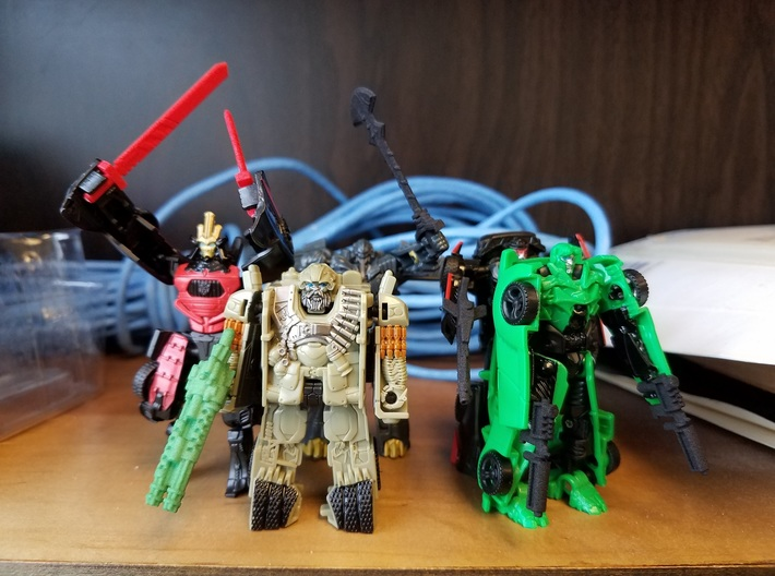 3mm Movie Transformer Weapons 3d printed