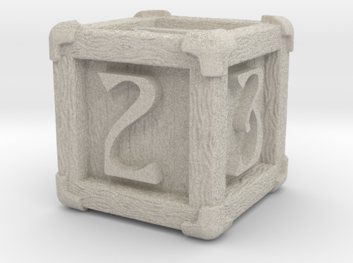 High Detailed Wood Dice with Numbers 3d printed