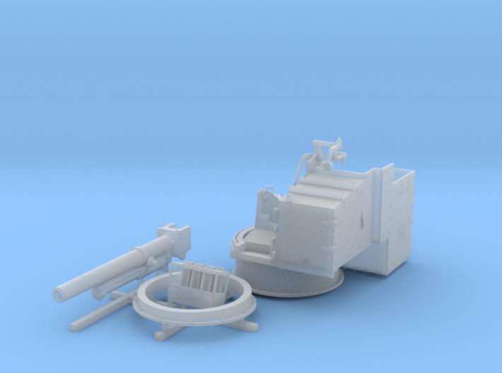 "1/72 4.5""/19 (11.4 cm) 8cwt QF MKI Fore (MTB) 3d printed 1/72 4.5""/19 (11.4 cm) 8cwt QF MKI Fore (MTB)"
