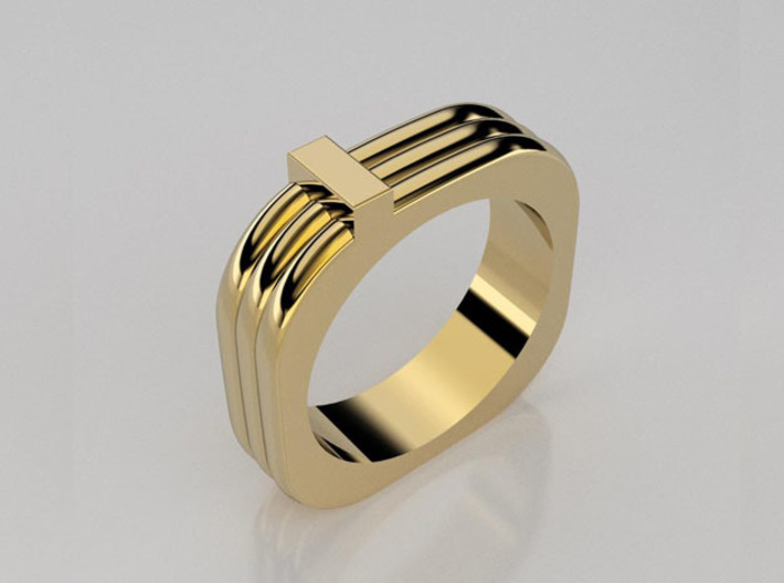 Squared triple ring 3d printed