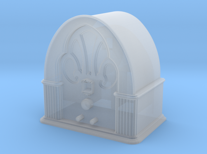 1:29 scale Philco 90 Baby Grand cathedral style Ra 3d printed