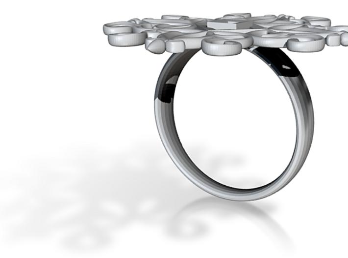 Artistic Ring 3d printed Antique design ring