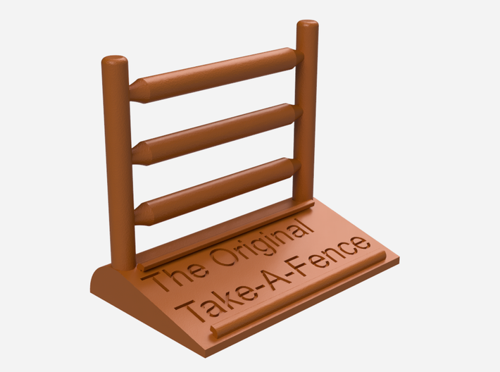 The Original Take-A-Fence: The Long Standing 3d printed