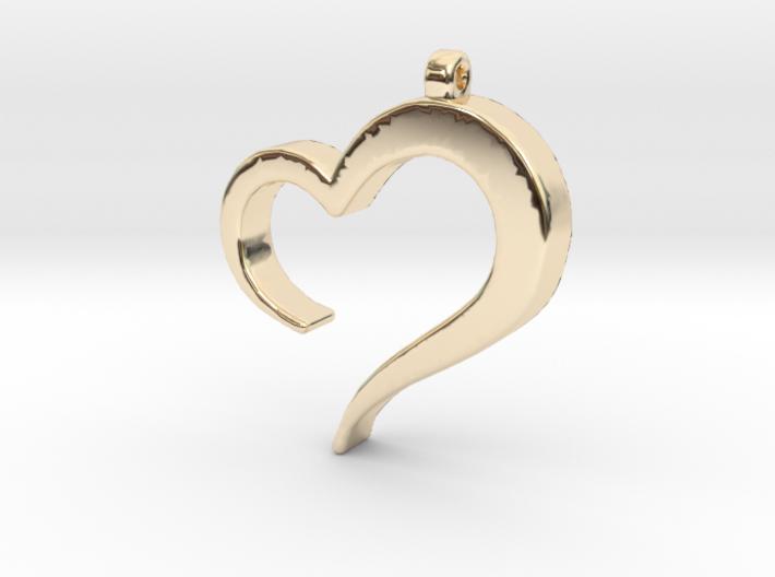 Heart_pendant 3d printed