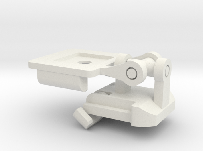 Passive Double Hinged Gimbal with GoPro clips ... 3d printed