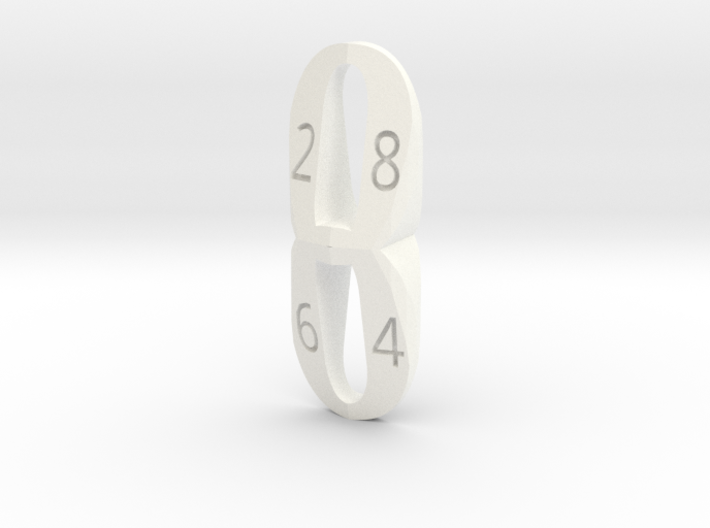 d8 eight shaped 3d printed