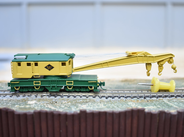 250 ton Industrial Brownhoist crane in Z scale 3d printed
