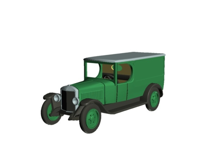 Unic L van 1922 - Ho 1:87 3d printed