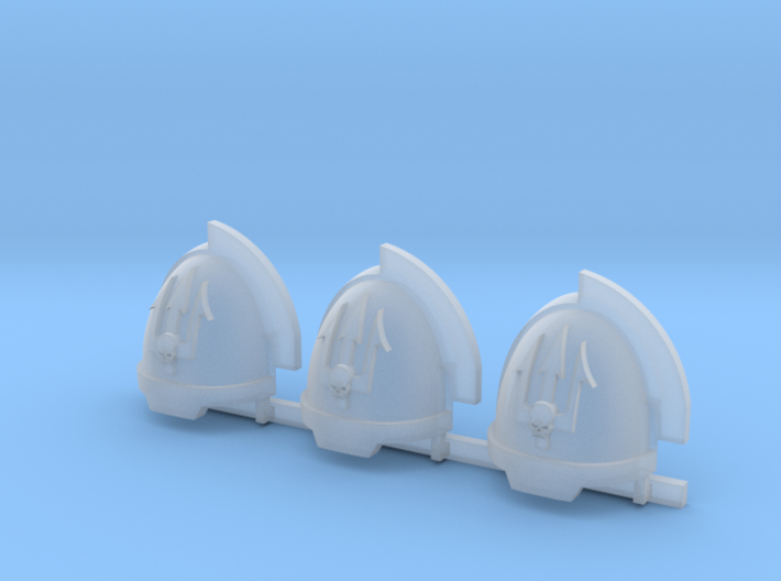 Skull on Spear Aggressive Shoulder Pads x3 R 3d printed