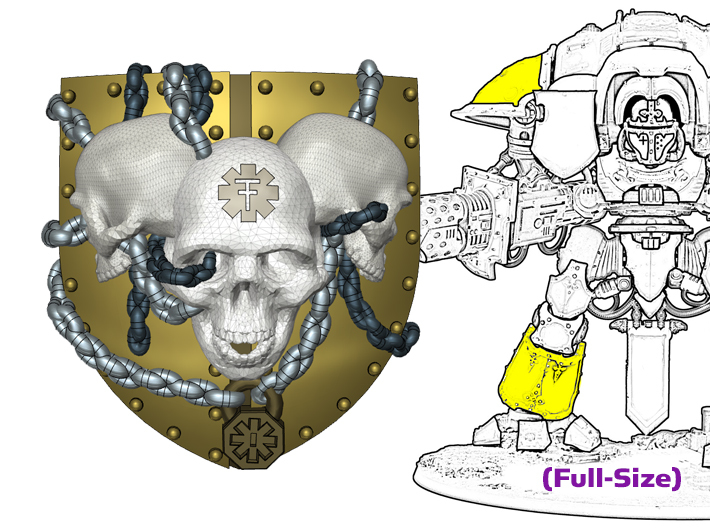 3 Skull Shield: Knight Insignias (Shoulder/Shin) 3d printed For a Full-Sized Knight
