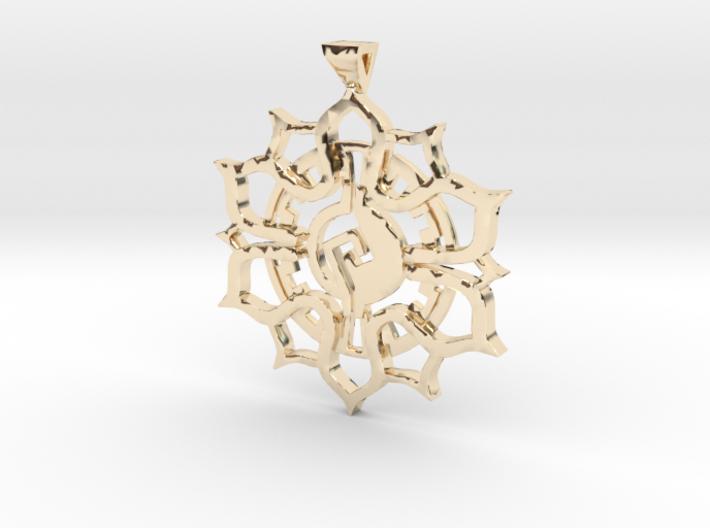 lotus_flower_pendant[1] 3d printed