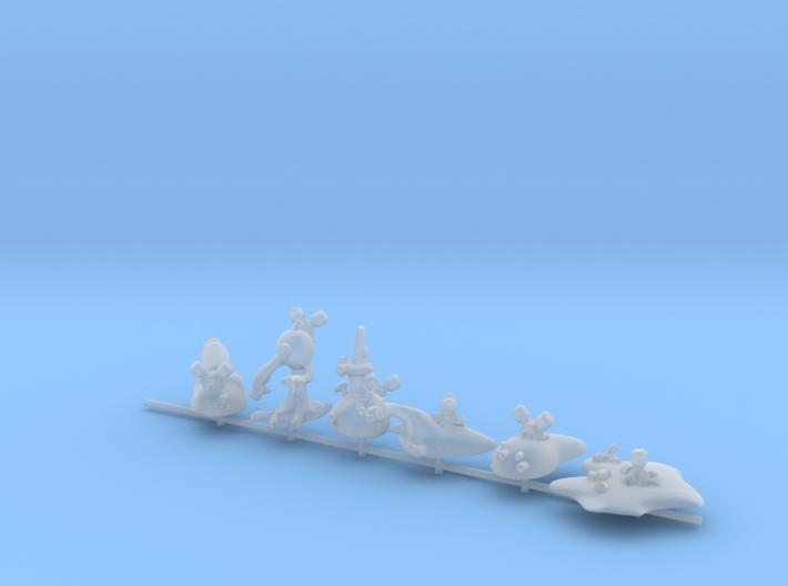 15mm Nanomorph Noncombatant figures 3d printed