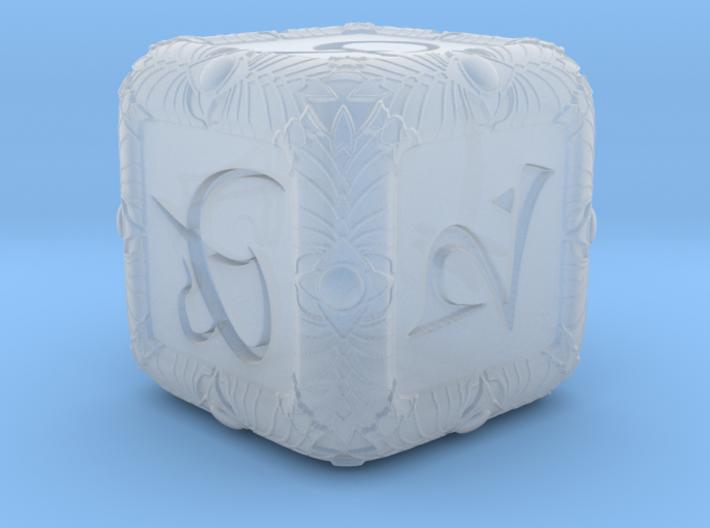 Elven Theme Dice 3d printed