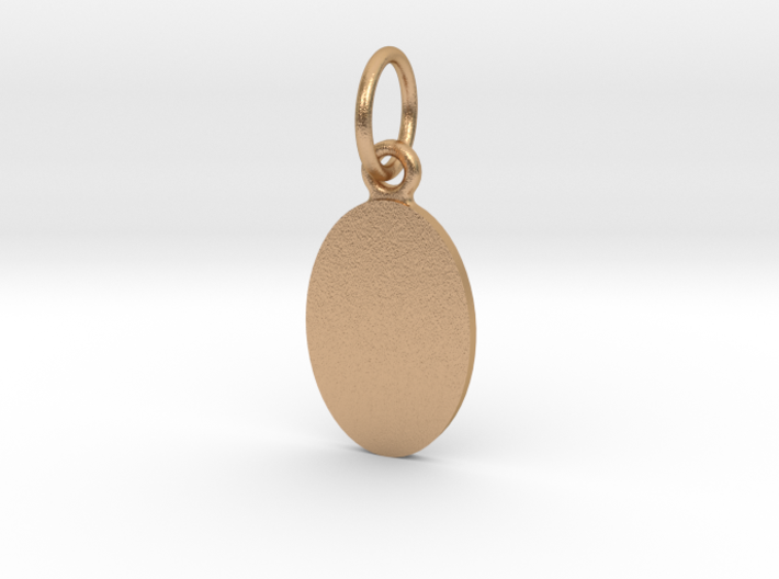 Pendant Base Oval 15 mm X 10 mm 3d printed
