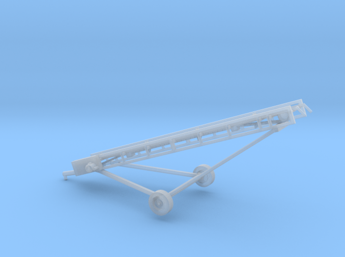 1/87th Hay Elevator conveyor with wheels hitch 3d printed