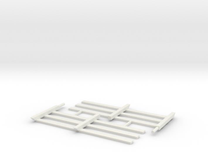 Wood Rail Fence - 2L (2 EA.) 3d printed Part # WRF-001