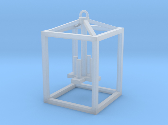 Lantern with faux candles -Medium 3d printed