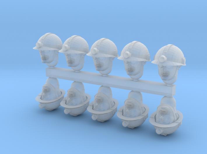 28mm miner heads x10 3d printed