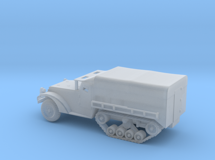 1/100 Scale M3 Halftrack with cover 3d printed