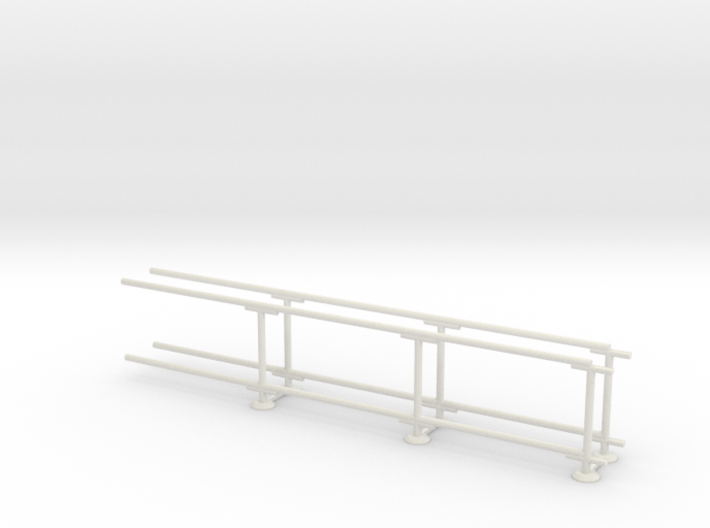 6' Straight Fence Frame-3-Bay (2ea.) 3d printed Part # CLBF-007-2