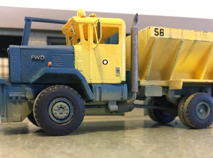 1/87 FWD RB4 Plow Truck 3d printed This is a painted model with added details (not included from Shapeways).