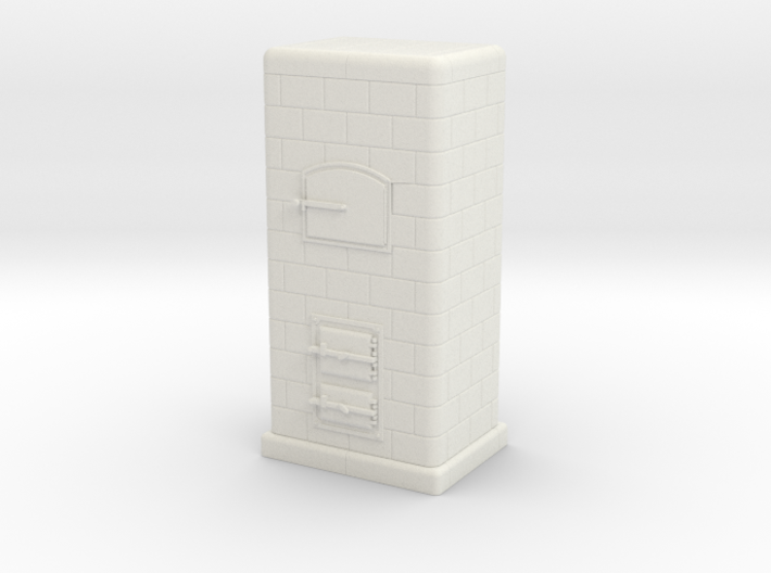H0 Tiled coal-burning stove 1:87 (Id) 3d printed
