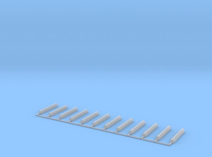 Parking Space Stop Blocks (12) (HO) 3d printed