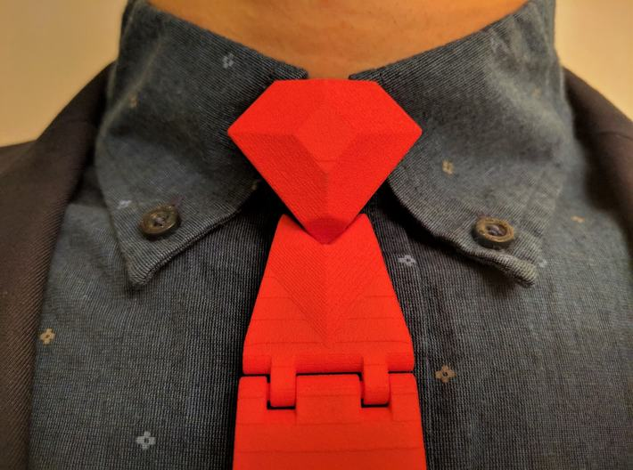 The Classic Necktie 3d printed The Classic has a stunning diamond knot to cap it off