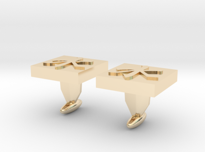 Confucianism Cuff Links 3d printed