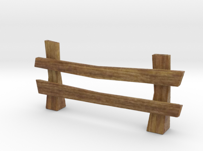 Wooden rail fence medieval 3d printed